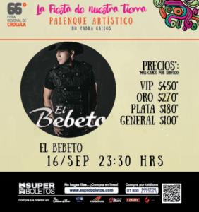 EL BEBETO 66 FERIA DE CHOLULA