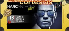 GANA BOLETOS para el concierto de Marc Anthony este 16 Mayo en CCU BUAP