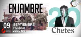 Enjambre, Chetes y Adanowsky en Puebla 3 de marzo Auditorio del CCU BUAP