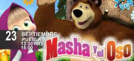 Masha y el Oso en Puebla 23 de septiembre Auditorio del CCU
