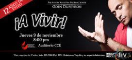 A vivir Odin Dupeyron en Puebla 9 de noviembre CCU BUAP