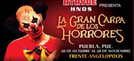 """GANA Boletos la """"El circo de los Horrores"""" en Puebla 20 de octubre"""