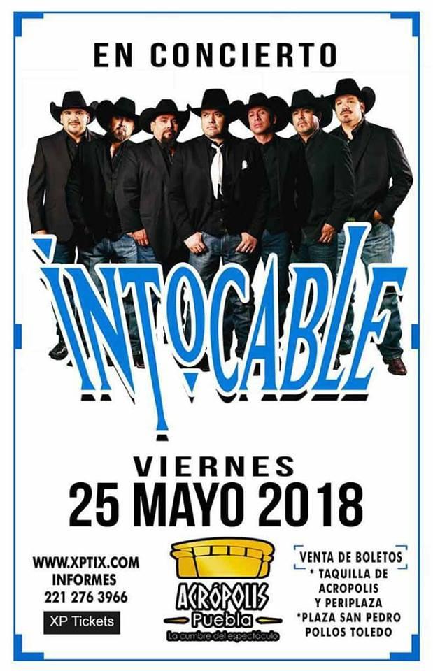 Intocable en puebla 25 de mayo acr polis liv magazine mx for Acropolis salon de fiestas