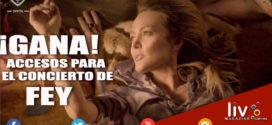 GANA accesos para el concierto de FEY en Puebla