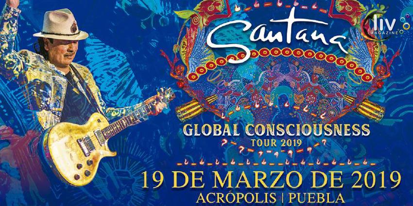 Santana global consciousness tour en Puebla 19 de marzo Acropolis