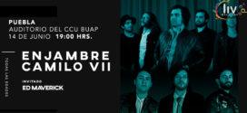 Enjambre y Camilo VII en Puebla 14 de junio CCU BUAP