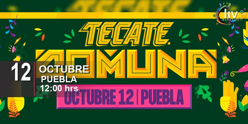 Festival Tecate Comuna Puebla 12 de Octubre Foro Cholula.