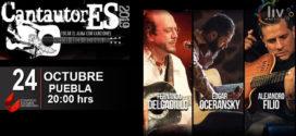 Cantautores en Puebla 24 de octubre CCU BUAP