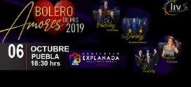 Bolero de mis Amores 15 de febrero Auditorio Explanada Puebla