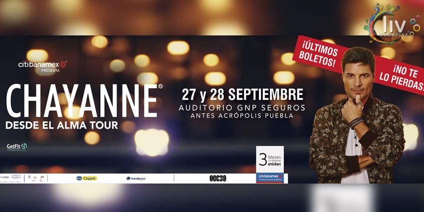 Chayanne en Puebla  27& 28 de septiembre Auditorio GNP Seguros