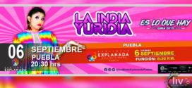 LA INDIA YURIDIA septiembre 06 Auditorio Explanada Puebla