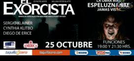 Obra El Exorcista en Puebla 25 de octubre Auditorio Metropolitano