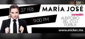 MARIA JOSÉ en Puebla 27 de febrero Auditorio del CCU