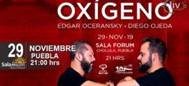 Edgar Oceransky y Diego Ojeda en Puebla 29 de noviembre Sala-Forum