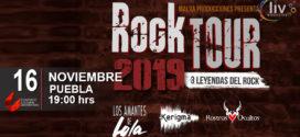 Rock Tour 2019 – Leyendas del Rock en Puebla 16 de nov CCU BUAP