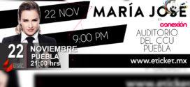 MARIA JOSÉ en Puebla 22 de noviembre Auditorio del CCU
