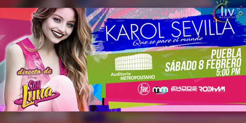 Karol Sevilla en Puebla 8 de febrero Auditorio Metropolitano