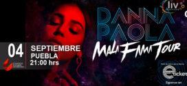 Danna Paola en Puebla Mala Fama Tour 27 de marzo CCU BUAP