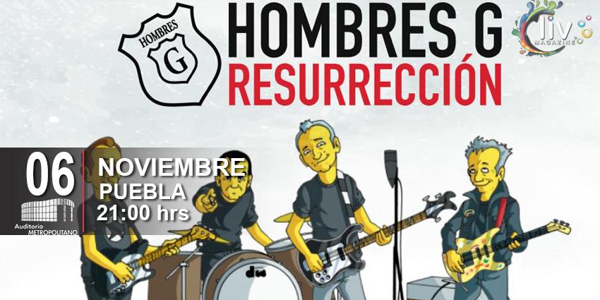 Hombres G en Puebla Resurrección 6 de noviembre Auditorio Metropolitano