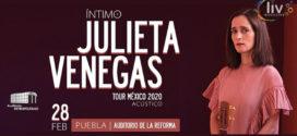 Julieta Venegas en Puebla 28 de febrero Auditorio de la Reforma
