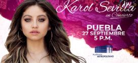 Karol Sevilla en Puebla 27 de septiembre Auditorio Metropolitano