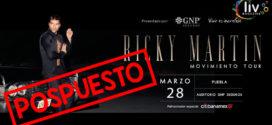 Ricky Martin en Puebla 28 de marzo Auditorio GNP