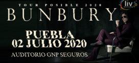 Bunbury en Puebla 2 de julio Auditorio GNP Seguros